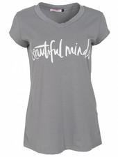 Gemma Ricceri Shirt beautiful minds grijs
