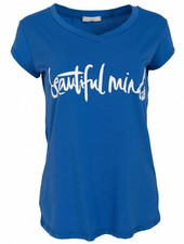 Gemma Ricceri Shirt beautiful minds kobalt