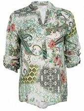 Gemma Ricceri Blouse Paisley print groen