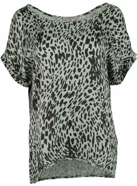 Gemma Ricceri Shirt silk touch Sylvie groen