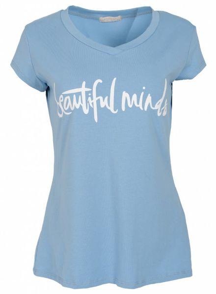 Gemma Ricceri Shirt beautiful minds babyblauw