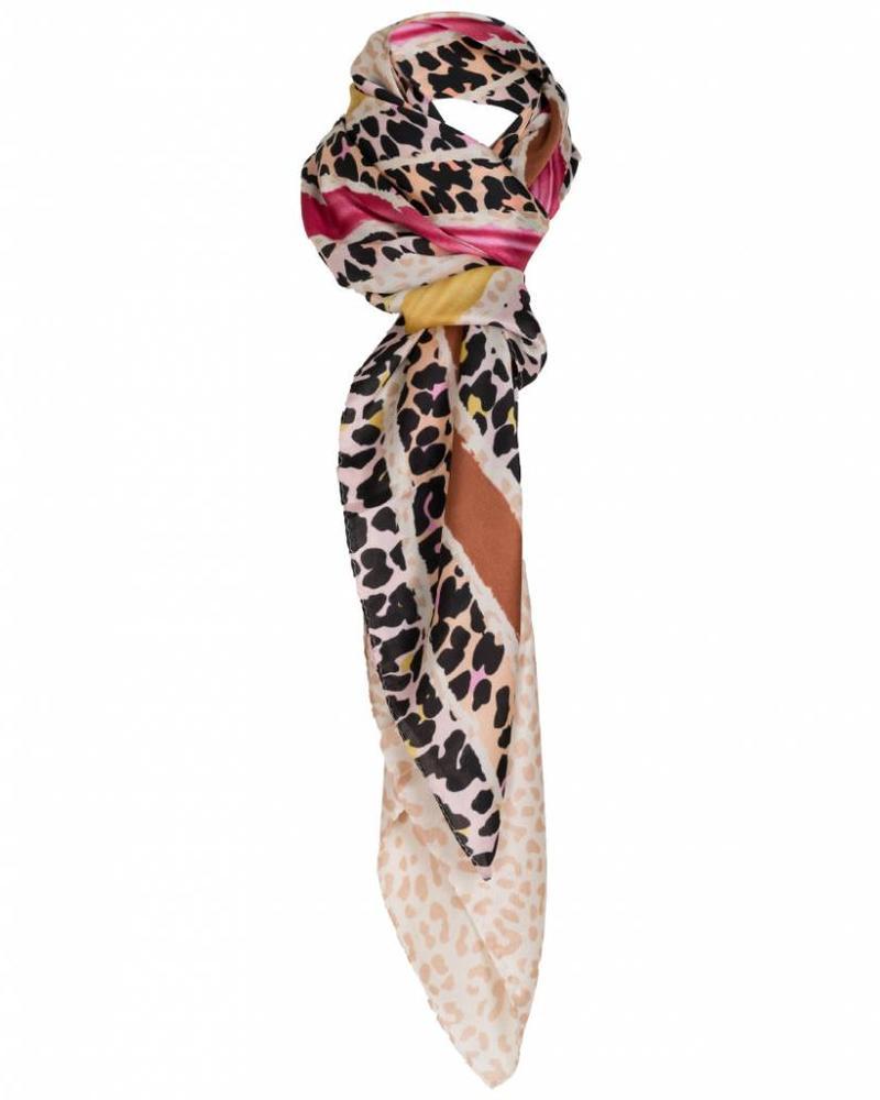 Sjaal Denise roze/geel
