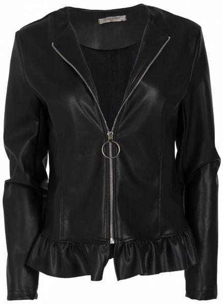 Gemma Ricceri Jasje leather look Noor zwart