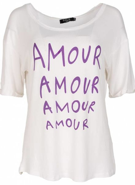 Rebelz Collection Shirt Amour wit/paars