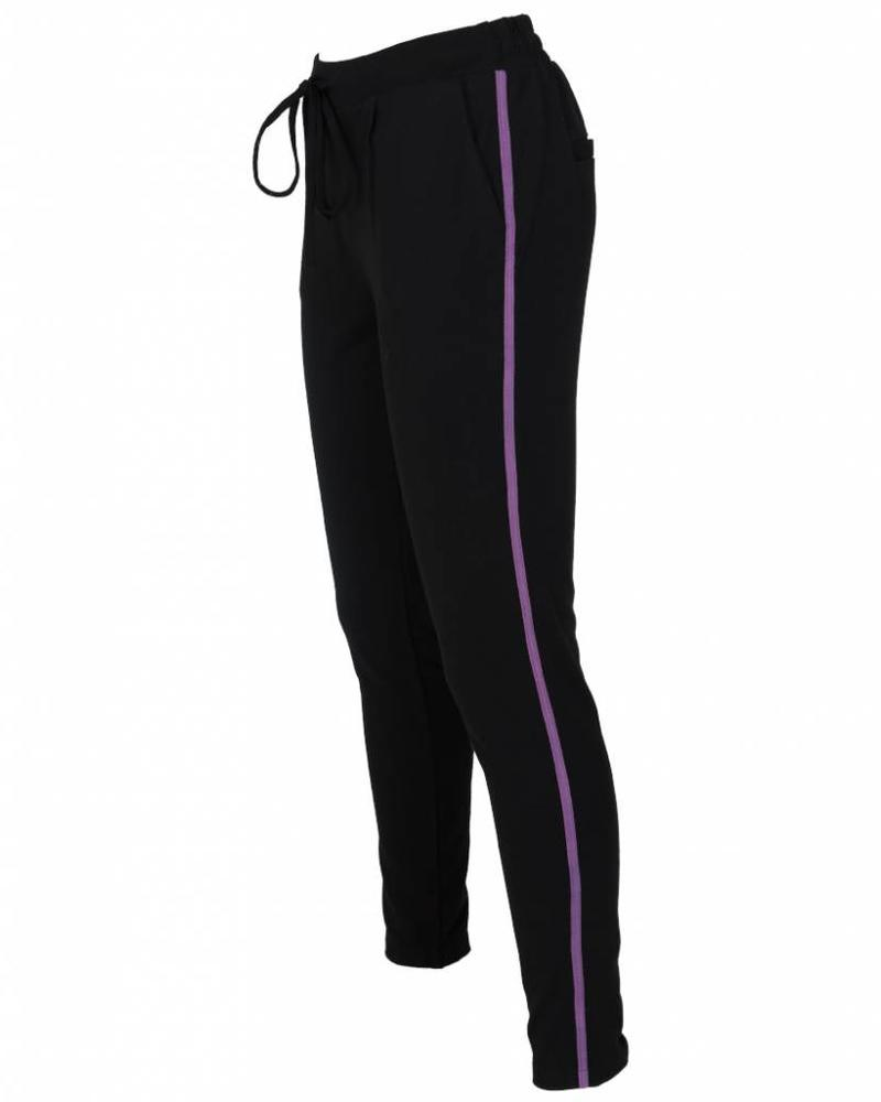 Rebelz Collection Pantalon Kora zwart/paars