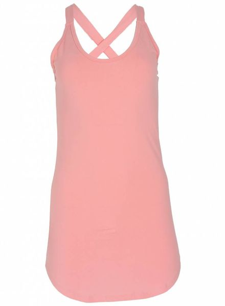 Rebelz Collection Top kruisband lang roze