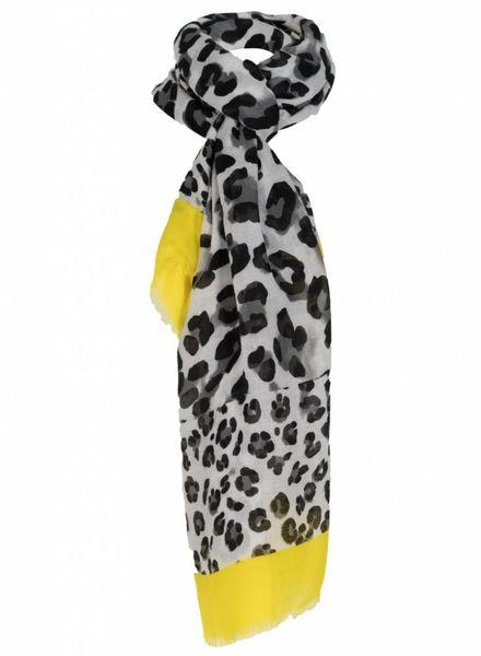 Sjaal panter Bruno zwart/geel