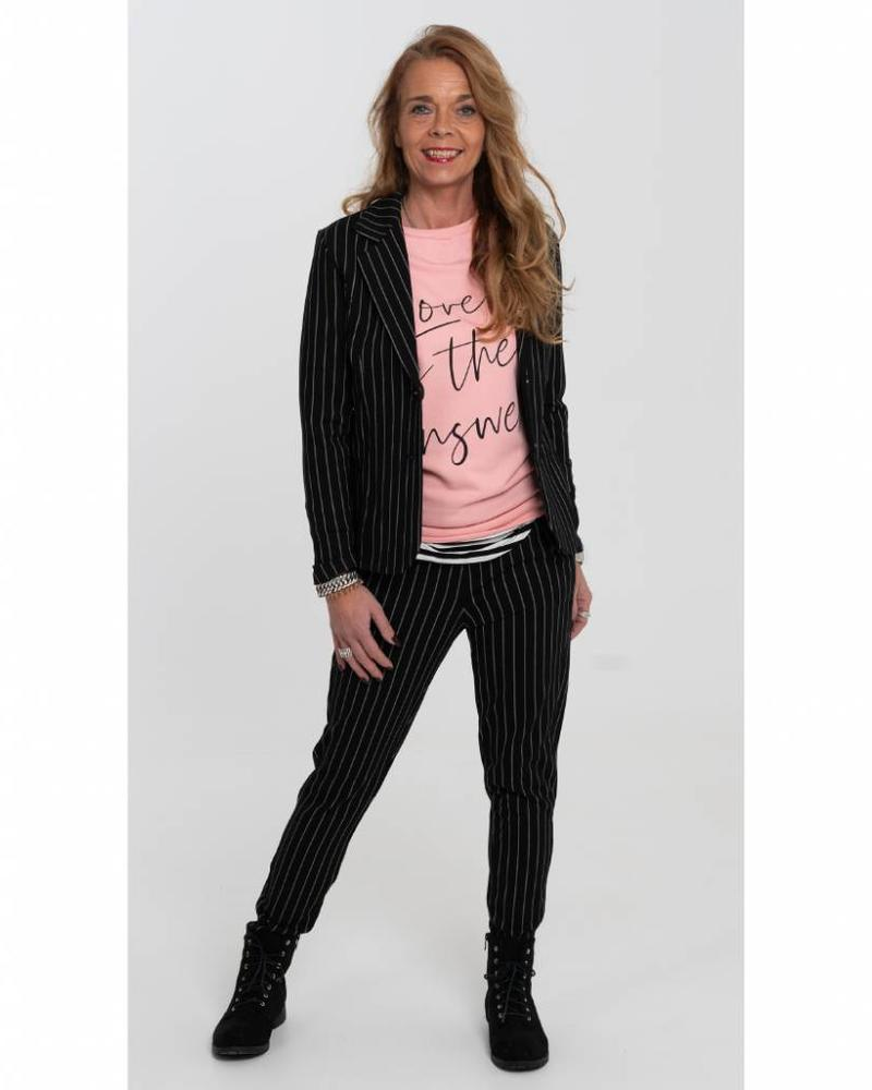 Rebelz Collection Sweater Love is roze