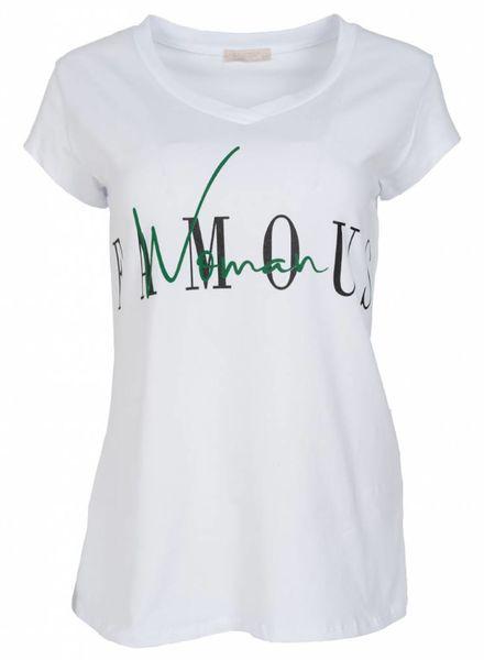 Gemma Ricceri Shirt Famous wit/groen