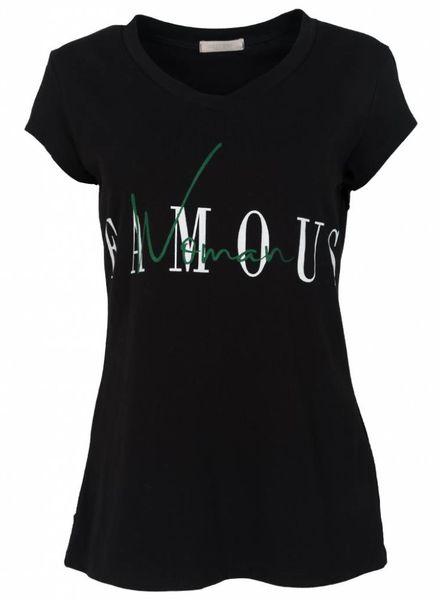 Gemma Ricceri Shirt Famous zwart/groen