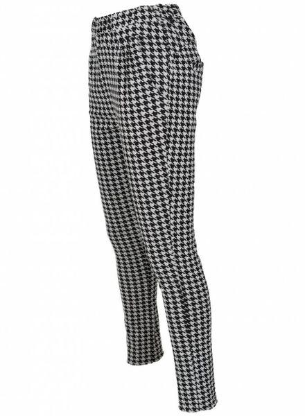 Rebelz Collection Pantalon pied-de-poule zwart/wit