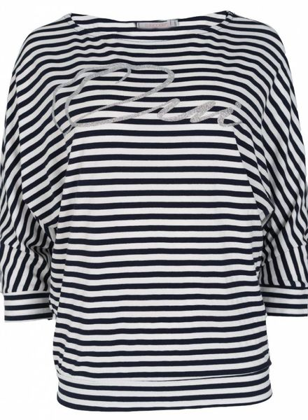Gemma Ricceri Shirt Oui streep blauw/wit
