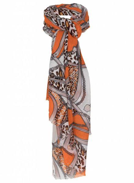 Sjaal Maxim bruin/oranje