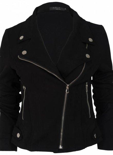 Rebelz Collection Biker jacket suede zwart