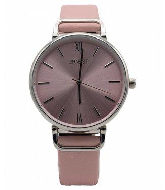 Horloge Carla lichtroze