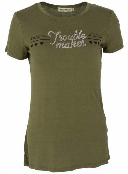Shirt trouble maker groen