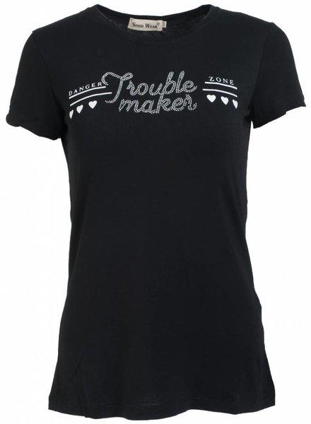 Shirt trouble maker zwart