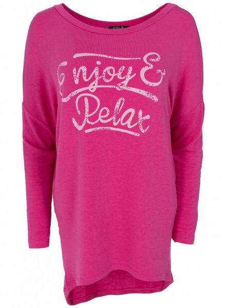 Wannahavesfashion Shirt big Relax fuchsia
