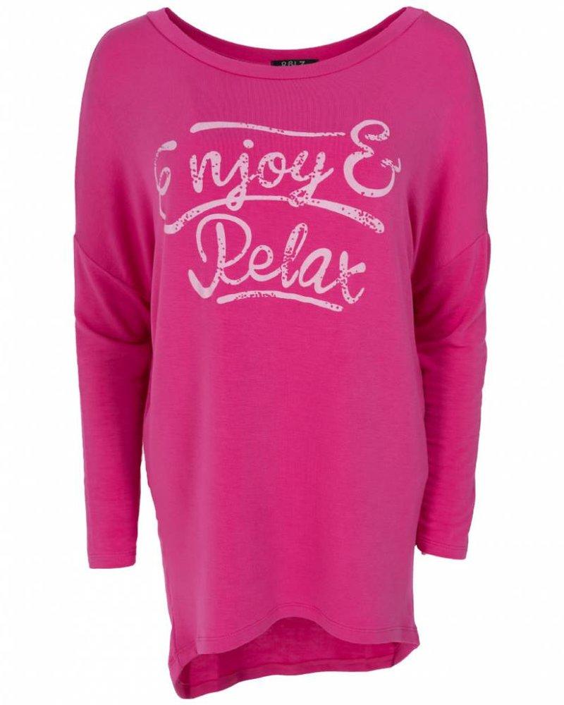 Wannahavesfashion Shirt big Relax fuchsia