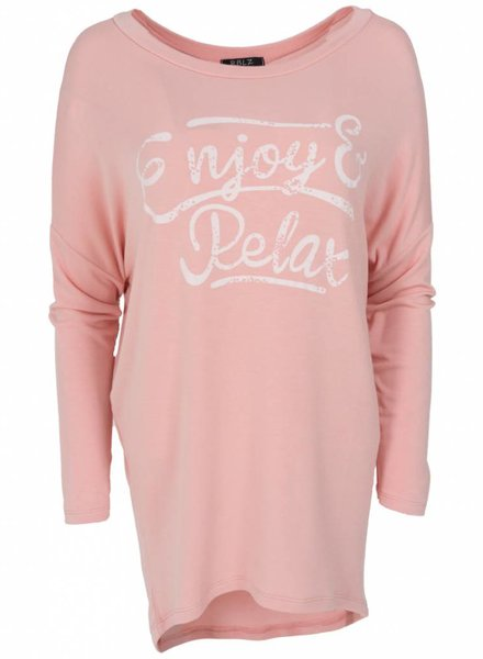 Wannahavesfashion Shirt big Relax roze