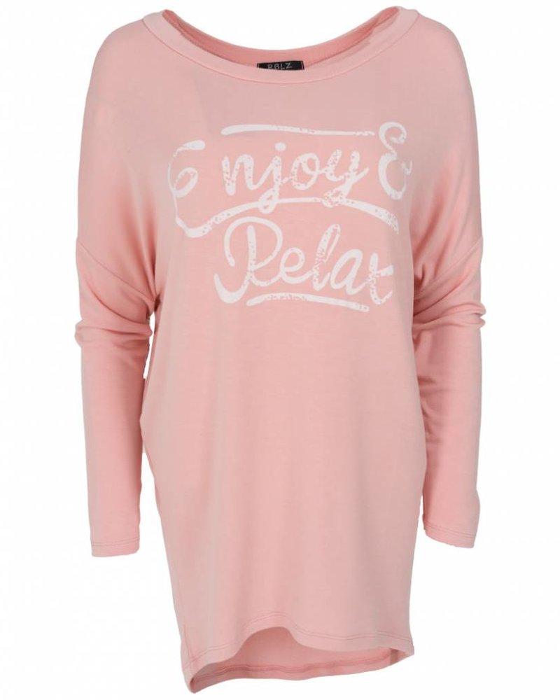 Wannahavesfashion Shirt big Relax roze