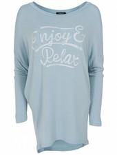 Wannahavesfashion Shirt big Relax lichtblauw
