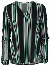 Vera Jo Blouse Vera streep zwart/groen