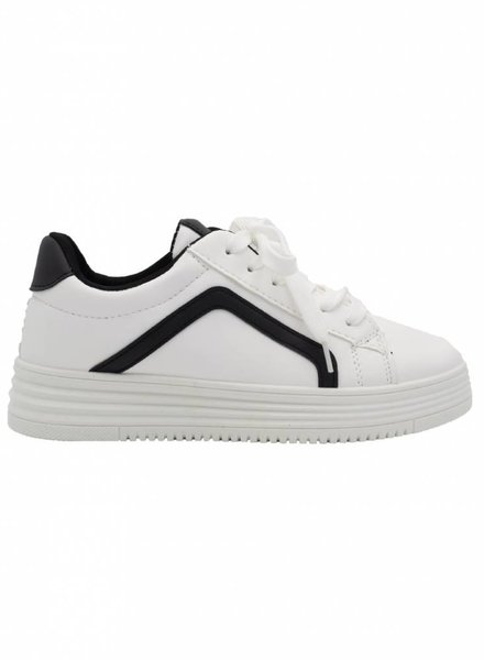 Wannahavesfashion Sneaker Diaz wit/zwart