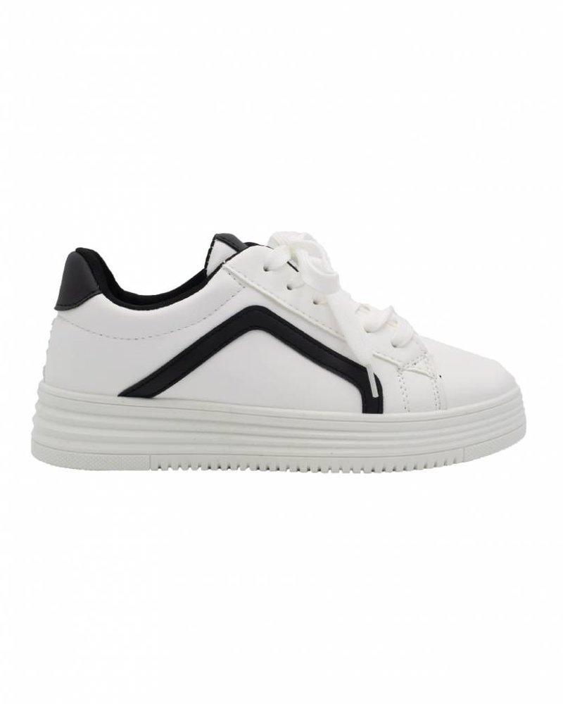 Wannahavesfashion Sneaker Diaz wit/zwart