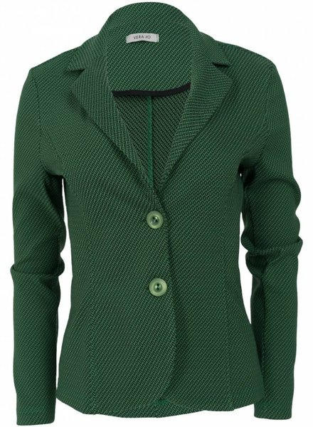 Vera Jo Blazer Pim jacquard groen