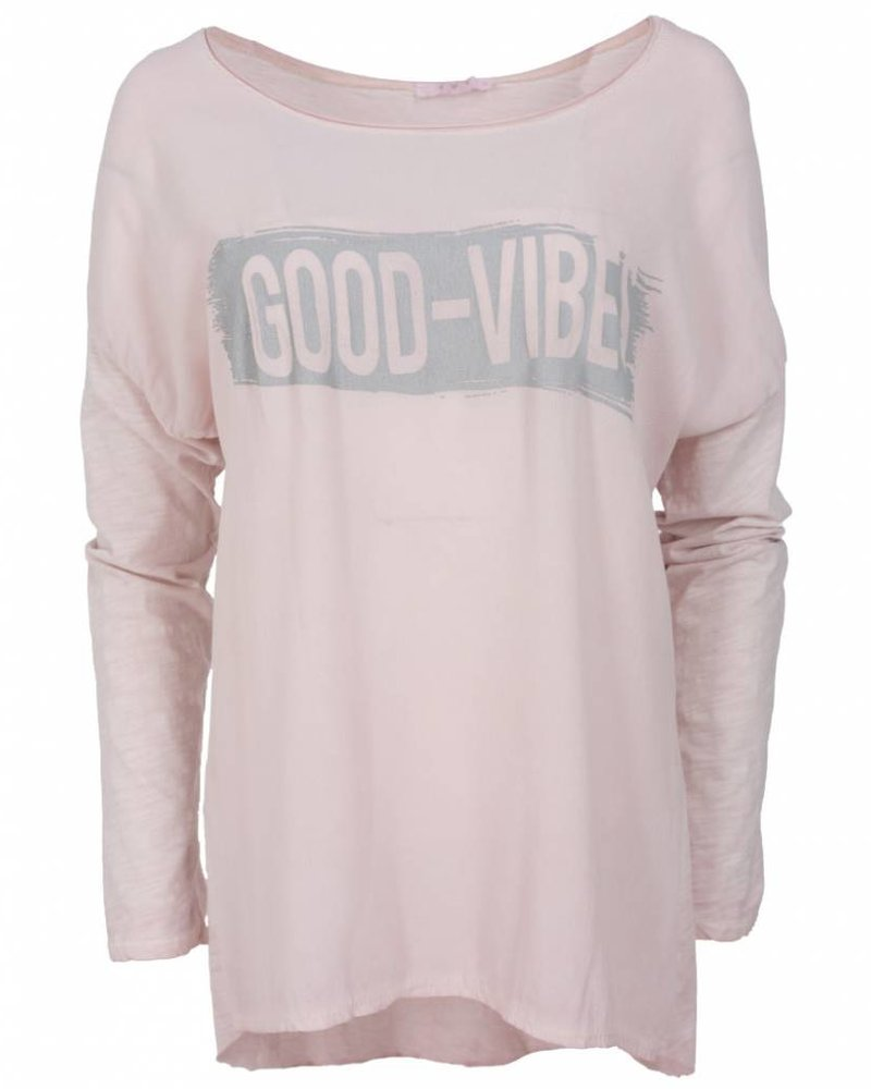 Gemma Ricceri Shirt Dana good vibes roze
