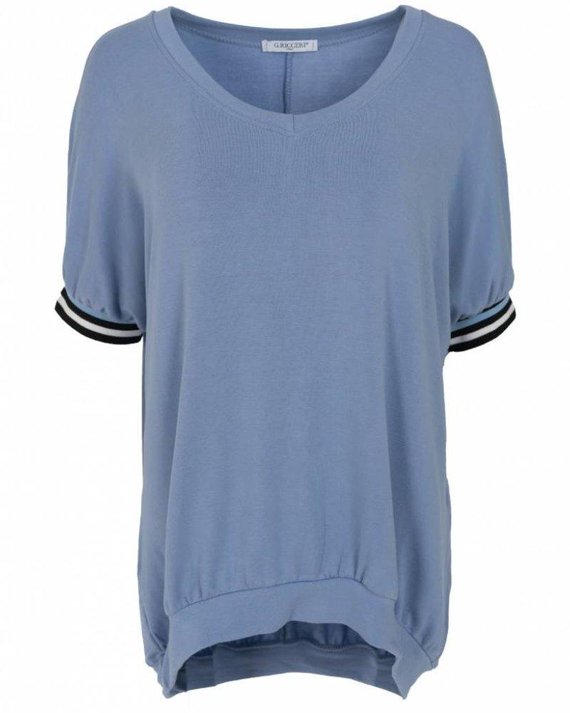 Gemma Ricceri Shirt Mel lichtblauw