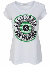 Gemma Ricceri Shirt California wit/groen