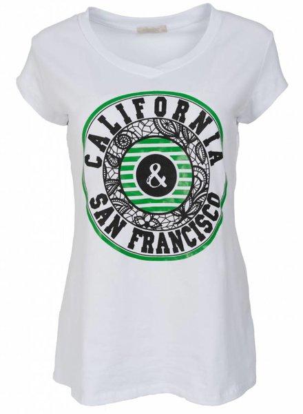 Gemma Ricceri Shirt California wit/groen