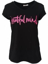 Gemma Ricceri Shirt beautiful minds zwart/fuchsia