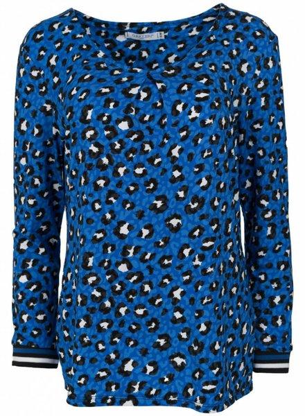 Gemma Ricceri Shirt Lia panterprint kobalt