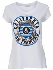 Gemma Ricceri Shirt California wit/kobalt
