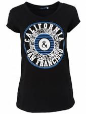 Gemma Ricceri Shirt California zwart/kobalt