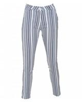 Gemma Ricceri Pantalon Bente wit/blauw