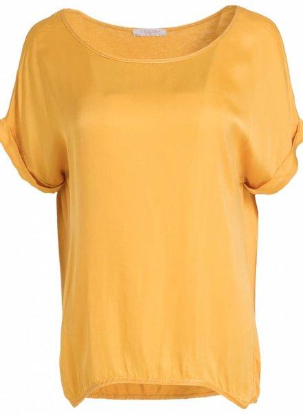 Gemma Ricceri Shirt silk touch okergeel
