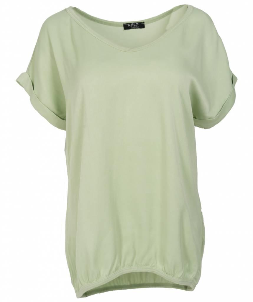 Rebelz Collection Shirt Mia v hals mintgroen