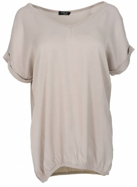 Rebelz Collection Shirt Mia v hals beige