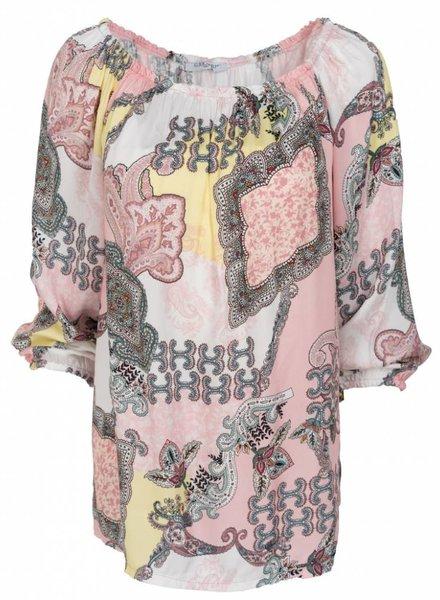 Gemma Ricceri Blouse Ellen print roze