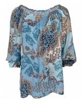 Gemma Ricceri Blouse Ellen print blauw
