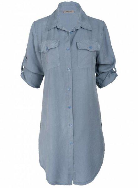 Gemma Ricceri Blouse Marit tencel jeansblauw