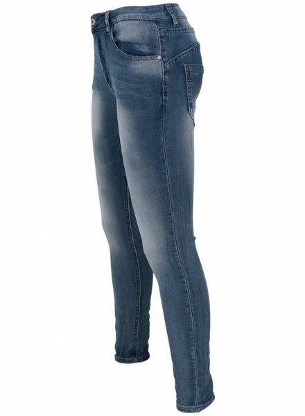 place du Jour Jog jeans Lila blauw