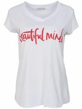 Gemma Ricceri Shirt beautiful minds wit/rood