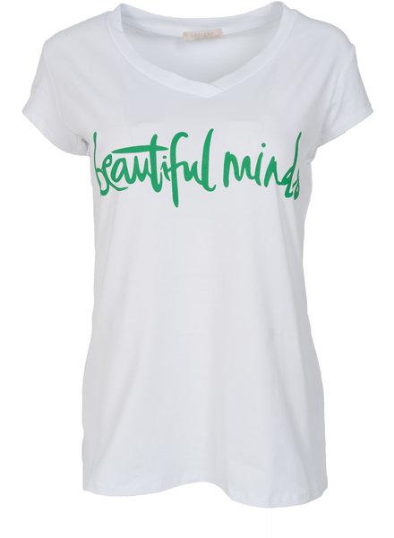 Gemma Ricceri Shirt beautiful minds wit/groen