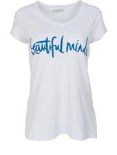 Gemma Ricceri Shirt beautiful minds wit/kobalt
