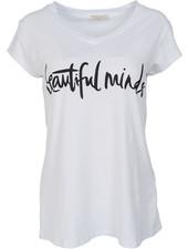 Gemma Ricceri Shirt beautiful minds wit/zwart